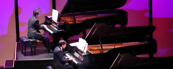 Scott Cuellar & Miles Fellenberg, Four Hands On Piano